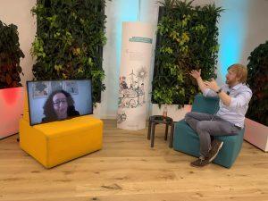 Tim Janßen im digitalen Gespräch mit Lamia Messari-Becker; Blog von Cradle to Cradle NGO