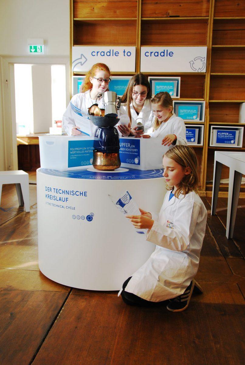 Kinder erforschen technischen Kreislauf
