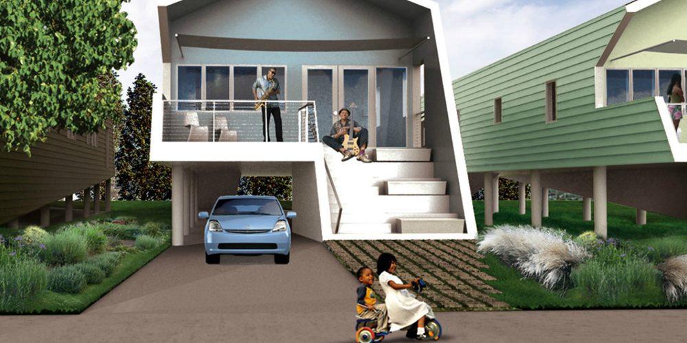 Architekturrendering C2C Häuser