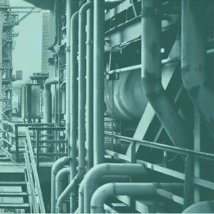 Industrierohre und Maschiene Ausschnitt